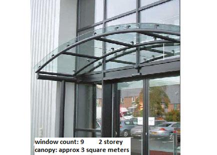 Glass Canopy Windows